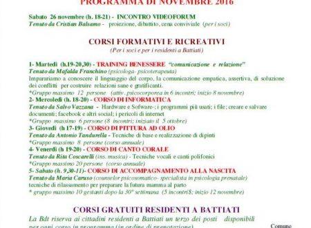 Programma Novembre 2016