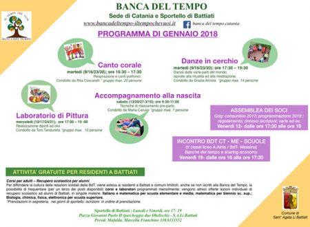 Programma di gennaio 2018