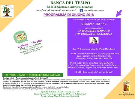 Programma di giugno 2018
