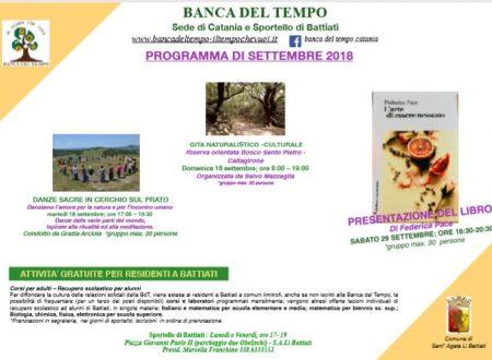 Programma di Settembre 2018