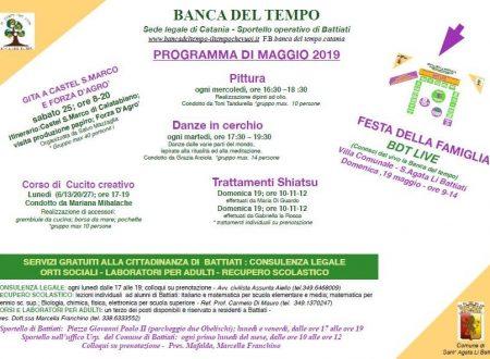 Programma maggio 2019