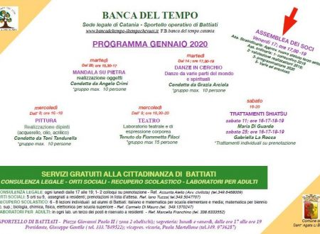 Programma gennaio 2020